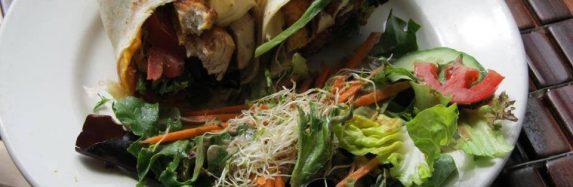 Grilled Albacore Tuna Fingers Soft Street Burrito.