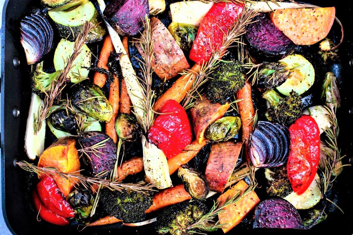 Roasted Heirloom Vegetables Bouquet Garni