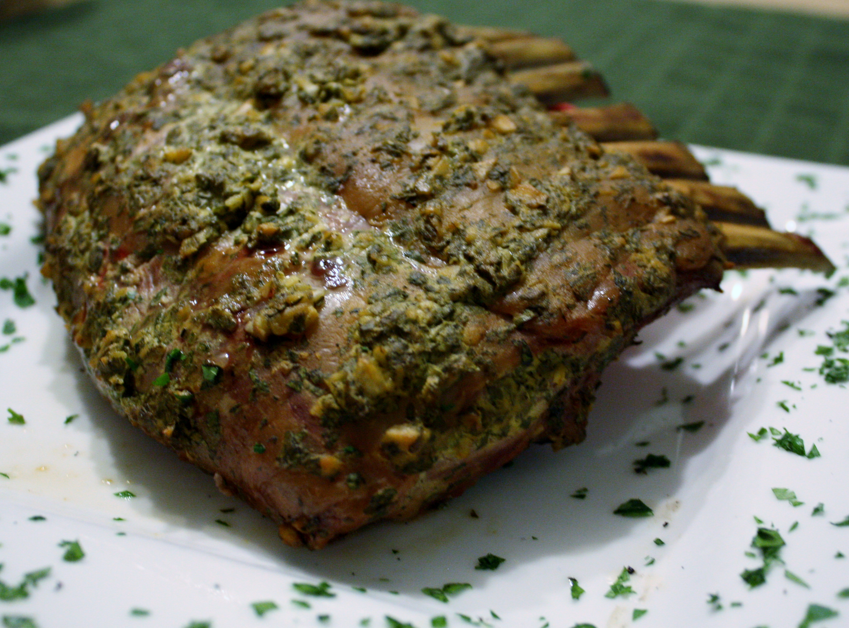 Garlic Infused Lamb Rack