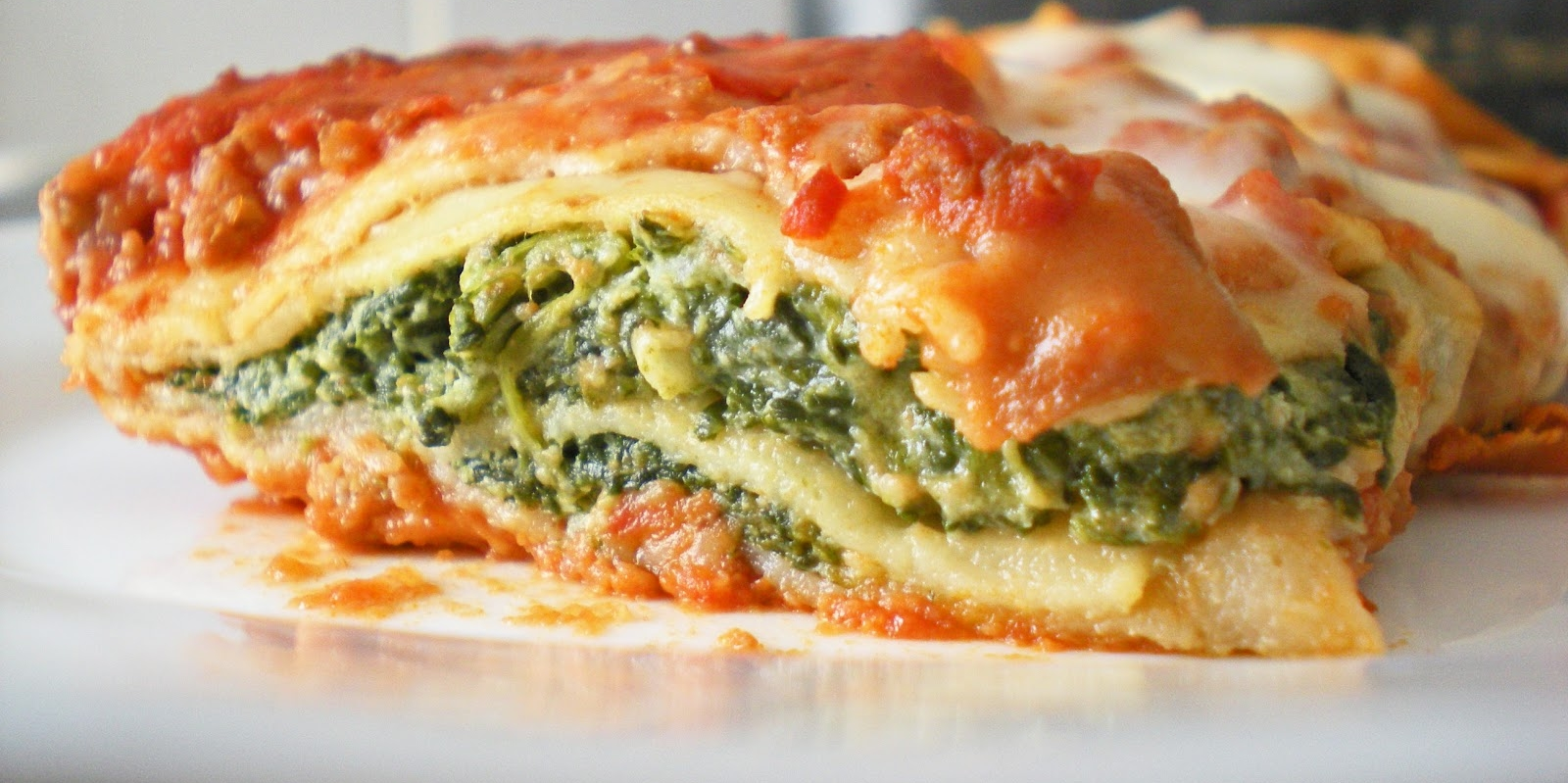 Spinach and Cheese Cannelloni with Roasted Tomato Sauce.