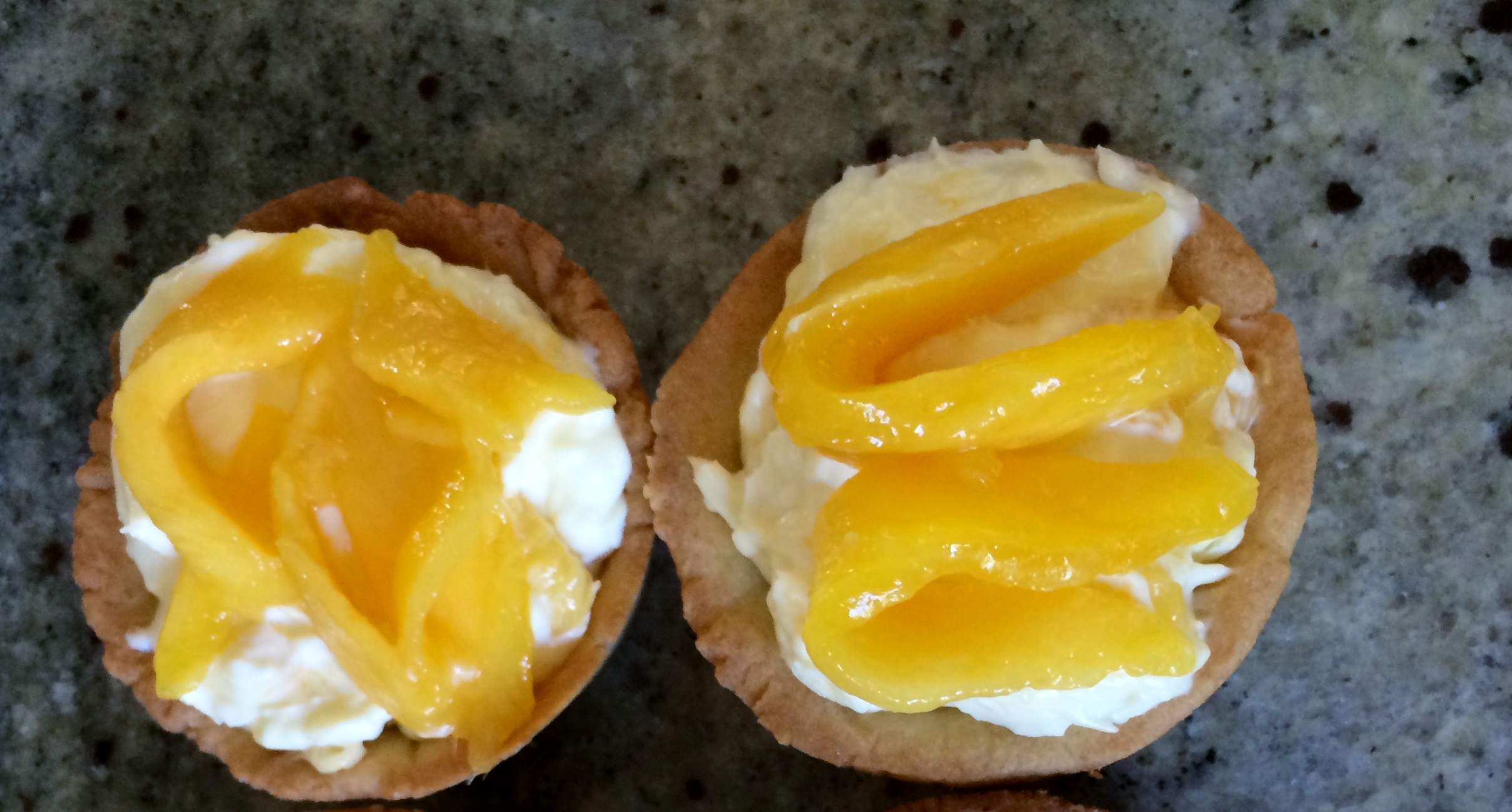 Skinny Sexy and Smart Mango Chevre Tarts.