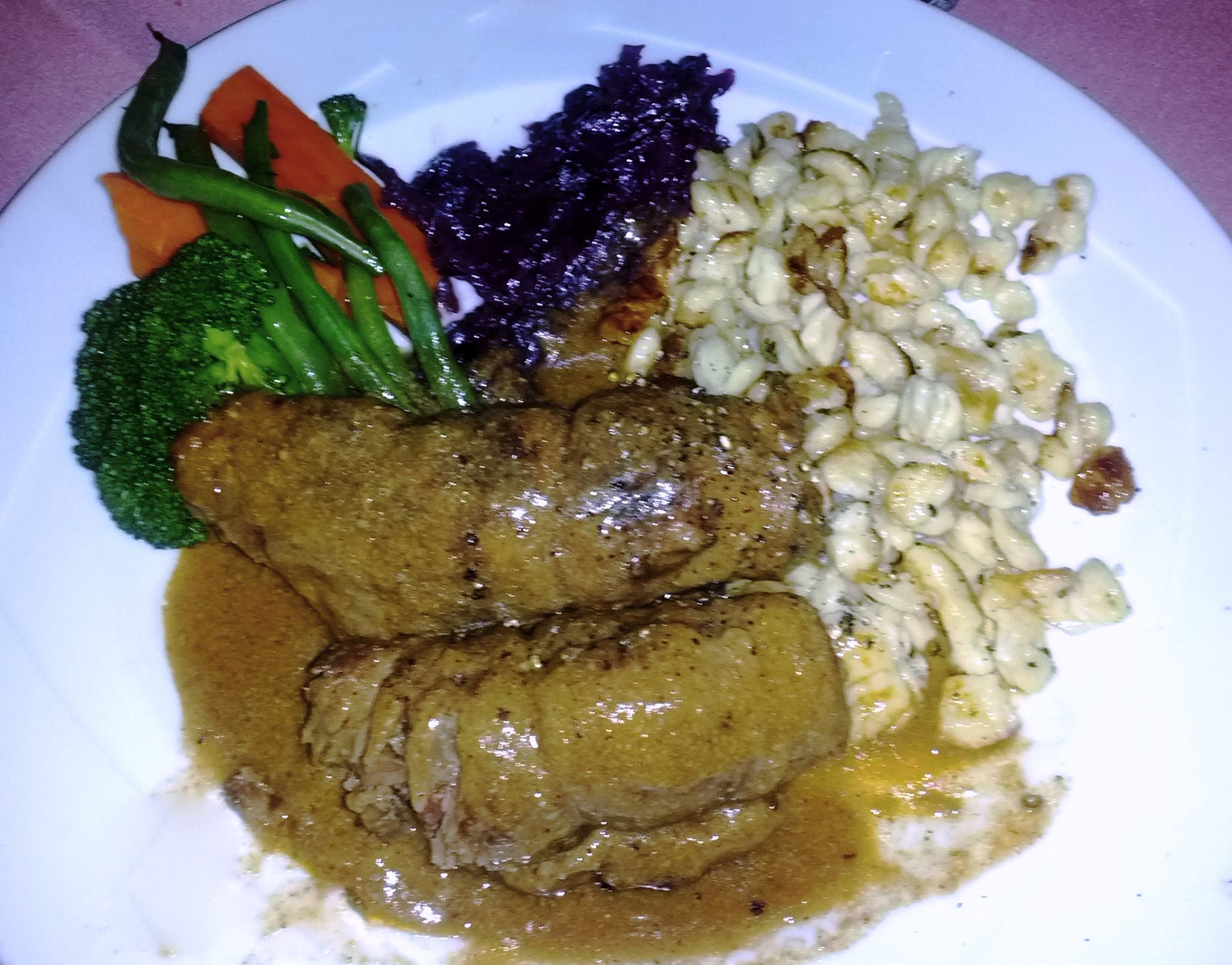 Beef Rouladen with Pan Fried Spaetzle