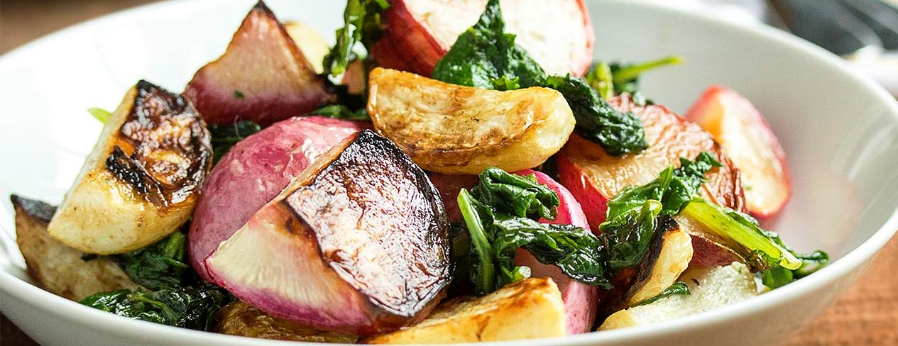 Grill Roasted Hakurei Turnip and Radish Salad