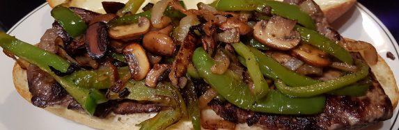 Mushroom Pepper Steak Sub.