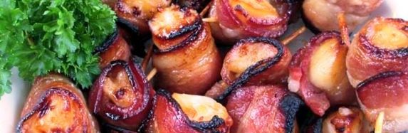 Bacon Wrapped Scallops.