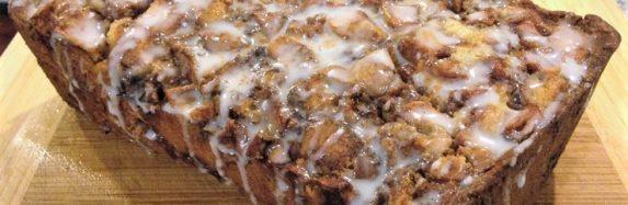 Coffee Crumb Cake with Apple and Rhubarb